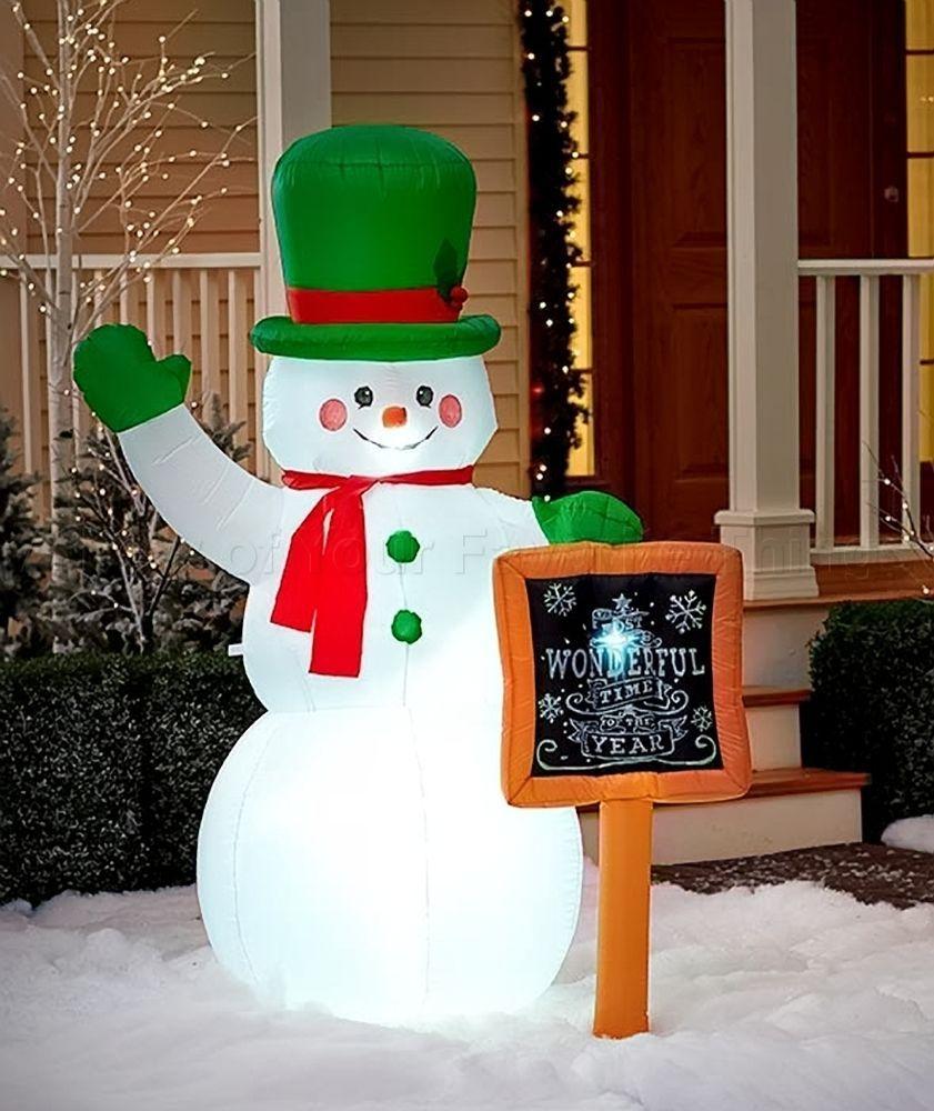 Inflatable lit Indoor//Outdoor Christmas Snowman 180 cm 6 ft