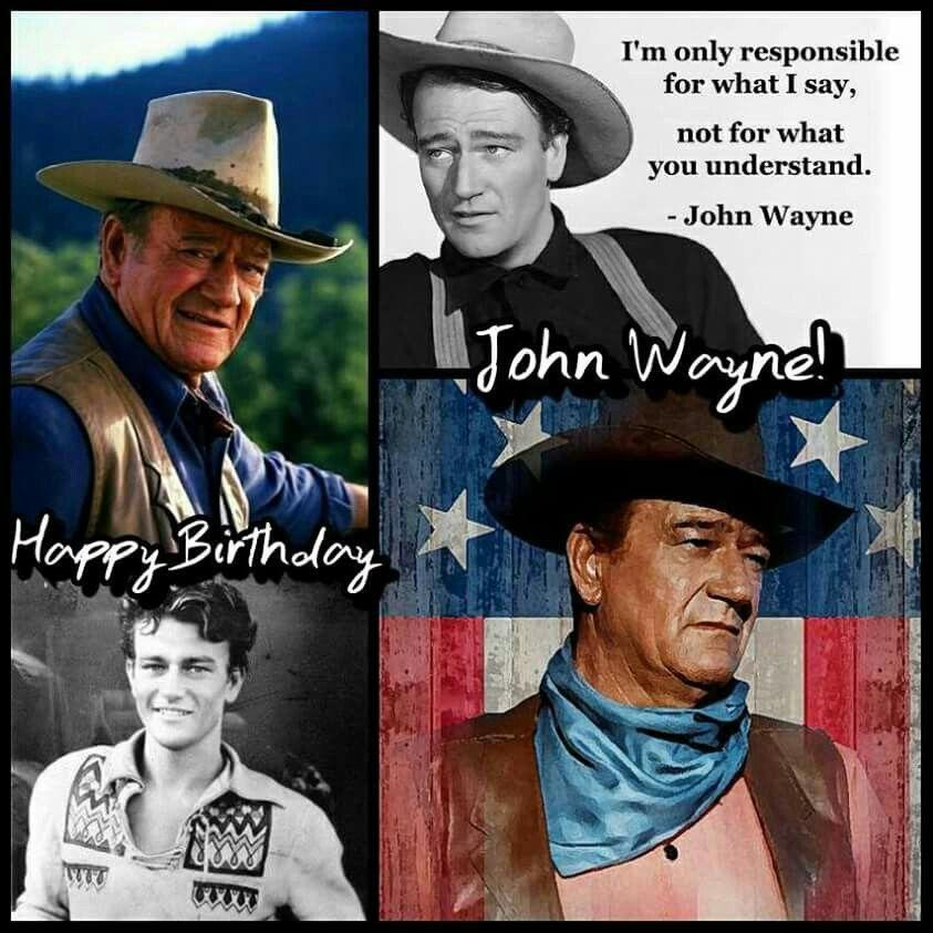 Happy Birthday Pilgrim! - john wayne straight | Meme Generator  |Happy Birthday John Wayne