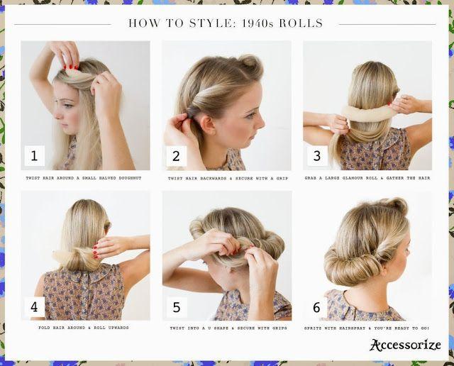 Pin By Dominika Brdnik On Hairstyles 1940s Hairstyles For Long Hair 1940s Hairstyles Vintage Hairstyles Tutorial