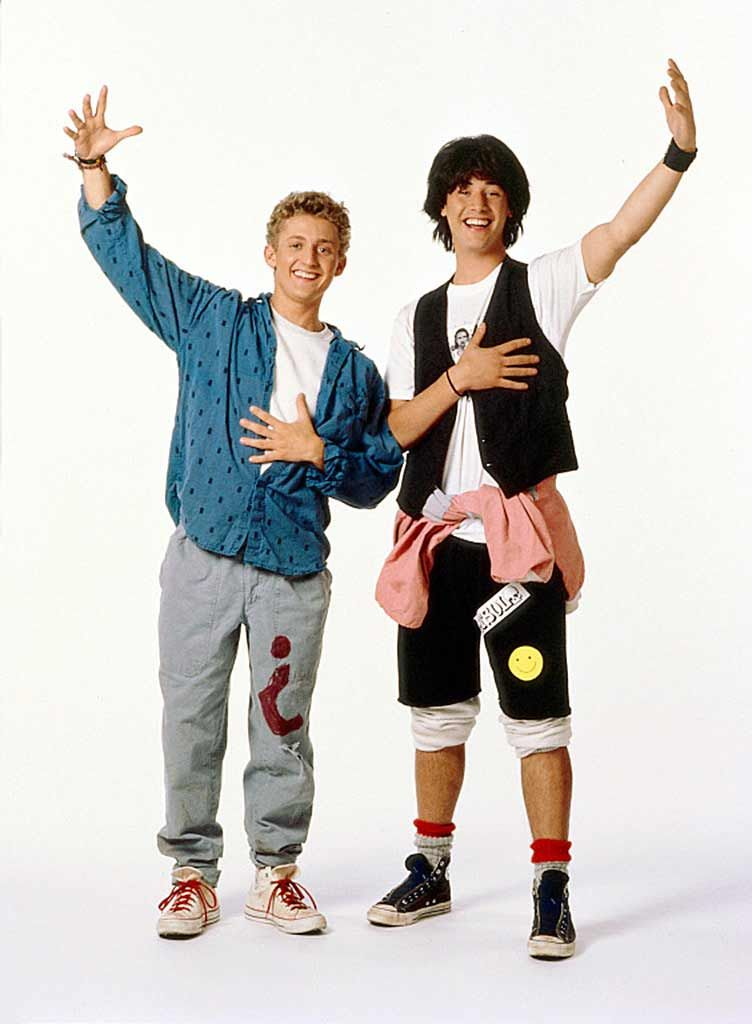 Alex Winter Keanu Reeves In Bill Teds Excellent Adventure 1989