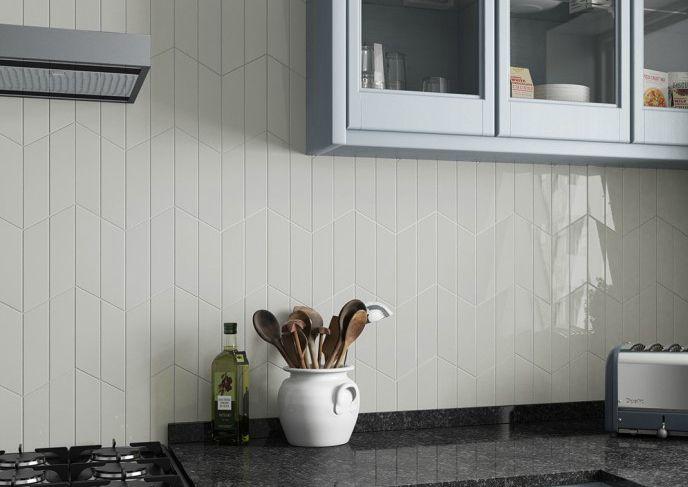 Discount Glass Tile Store Chevron Ceramic White 2 X 9 Ceramic Wall Tile 3 29 Per Square Foot Gloss Finish 3 29 Http Plitka Kuhonnyj Pol Pol Kuhni