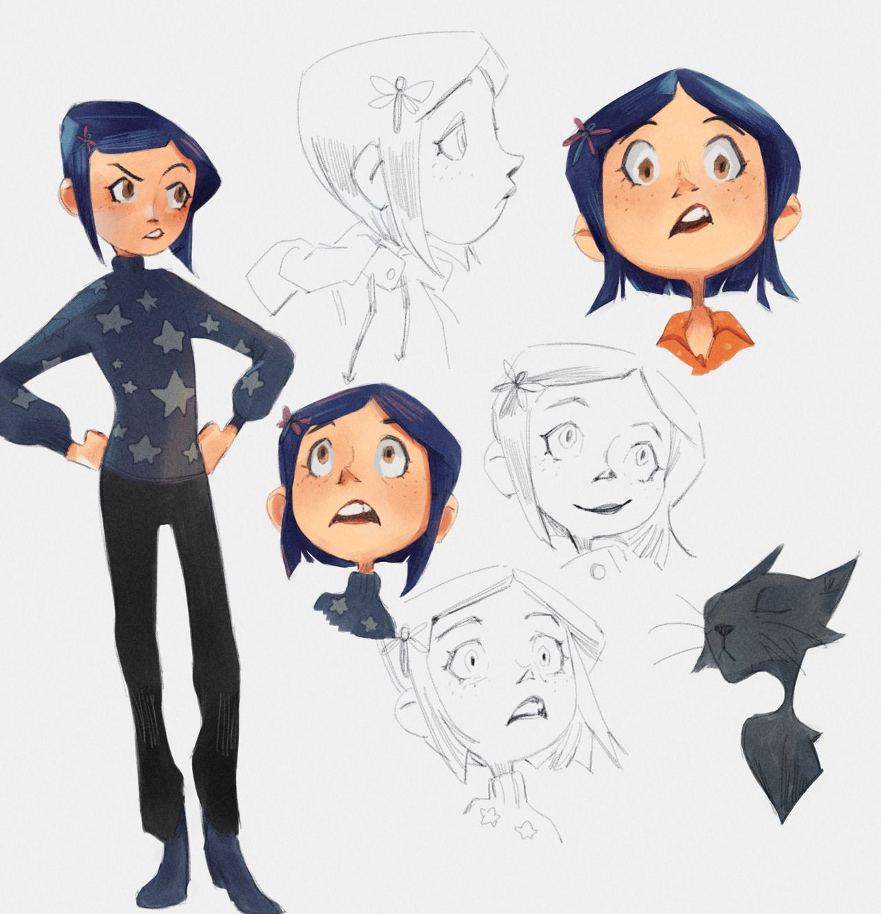 Clofox Exploring An Old Style With Coraline Too Many Ships Coraline Art Character Art Cartoon Drawings