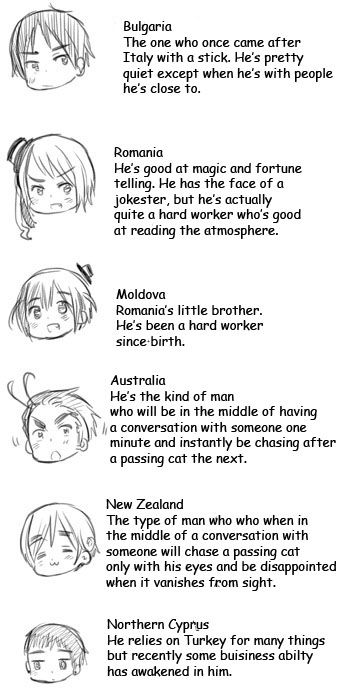 Hetalia minor character bios - I love how Australia's and New Zealand's are connected!