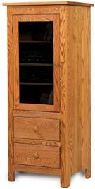 33 Off Brookside Corner Curio In Q S White Oak Solid Wood Amish Furniture Amish Furniture Stereo Cabinet Oak