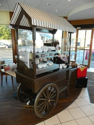 Hand built wooden retail carts coffee carts sweet carts for Coffee cart design