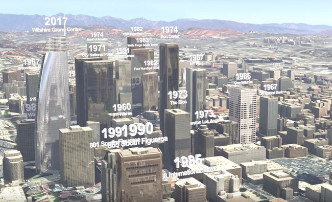Watch A Century Of Downtown L A S Development In 2 Minutes Of 3d Animated Renderings