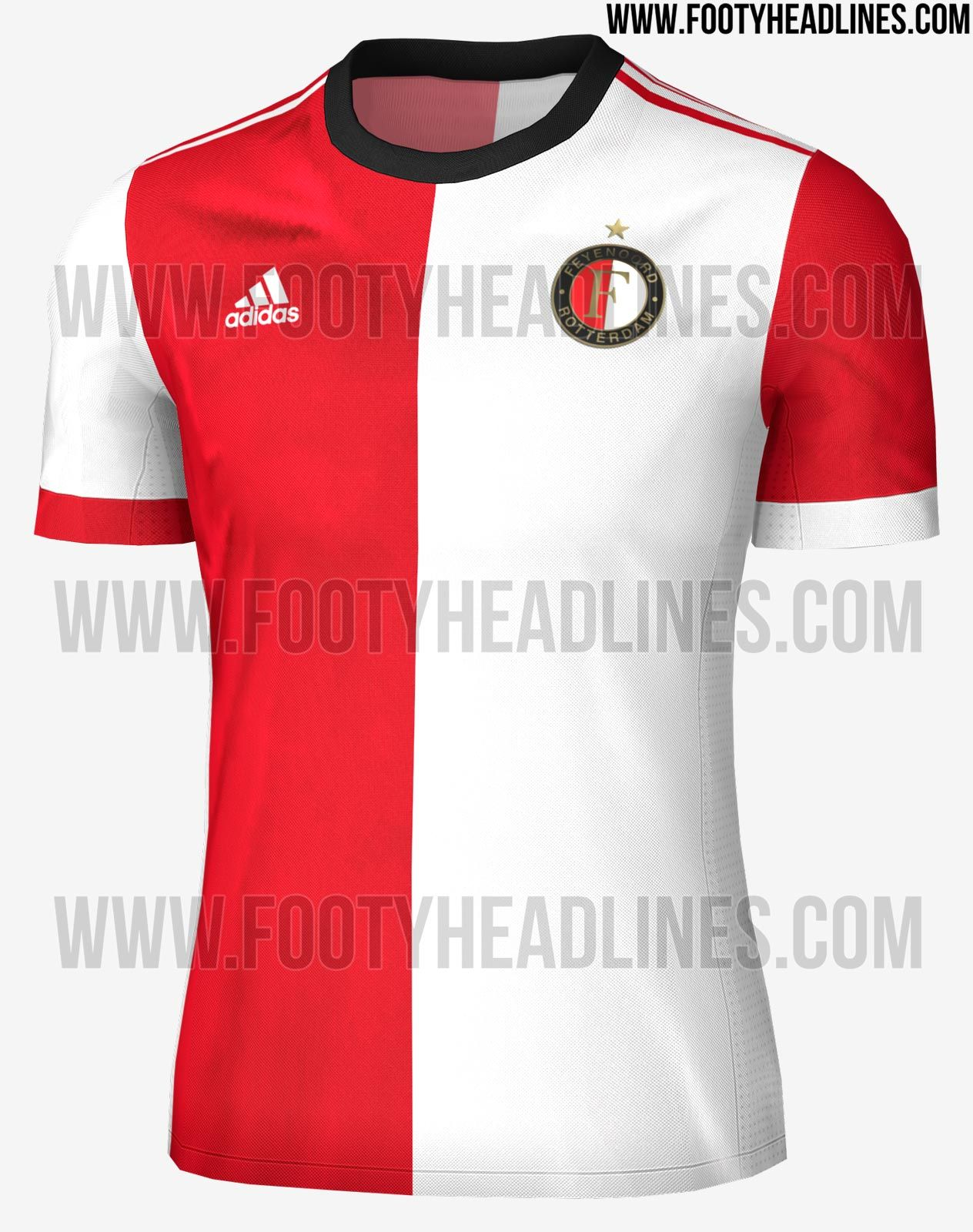 21de7352a08 The new Adidas Feyenoord 2017-2018 jerseys introduce unique designs ...