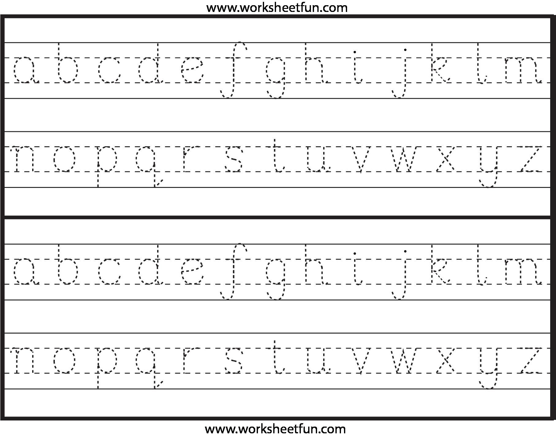 Abc Tracing Worksheets For Kindergarten In With