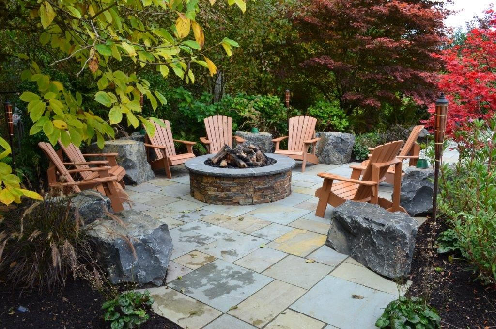 firepit backdrop - Google Search | Landscape Wishes ...