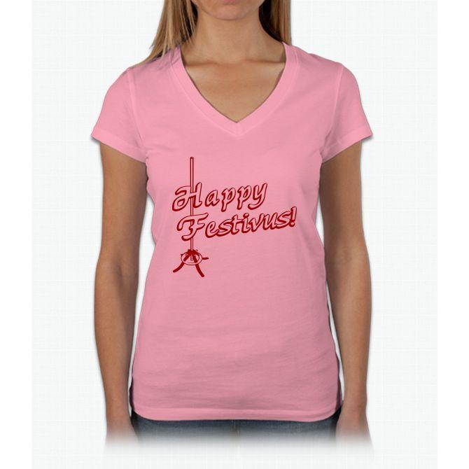 Happy Festivus! Womens V-Neck T-Shirt