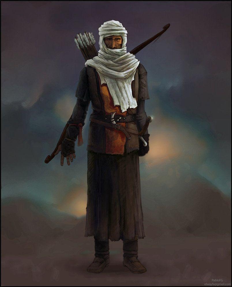 Conceptual Art Desert Warriors Bedouin Warrior Conceptart