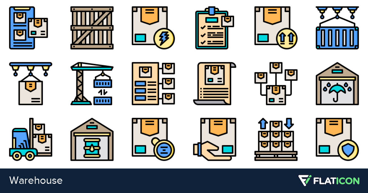 30 Free Vector Icons Of Warehouse Designed By Phatplus Vector Free Warehouse Design Vector Icons