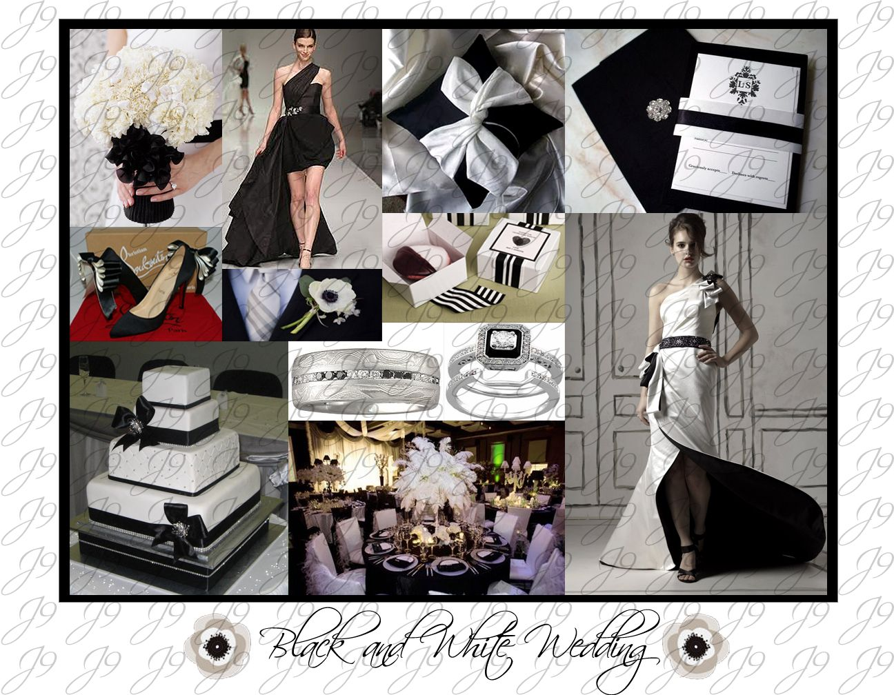 Black and White Wedding Inspiration #Black #White #Wedding