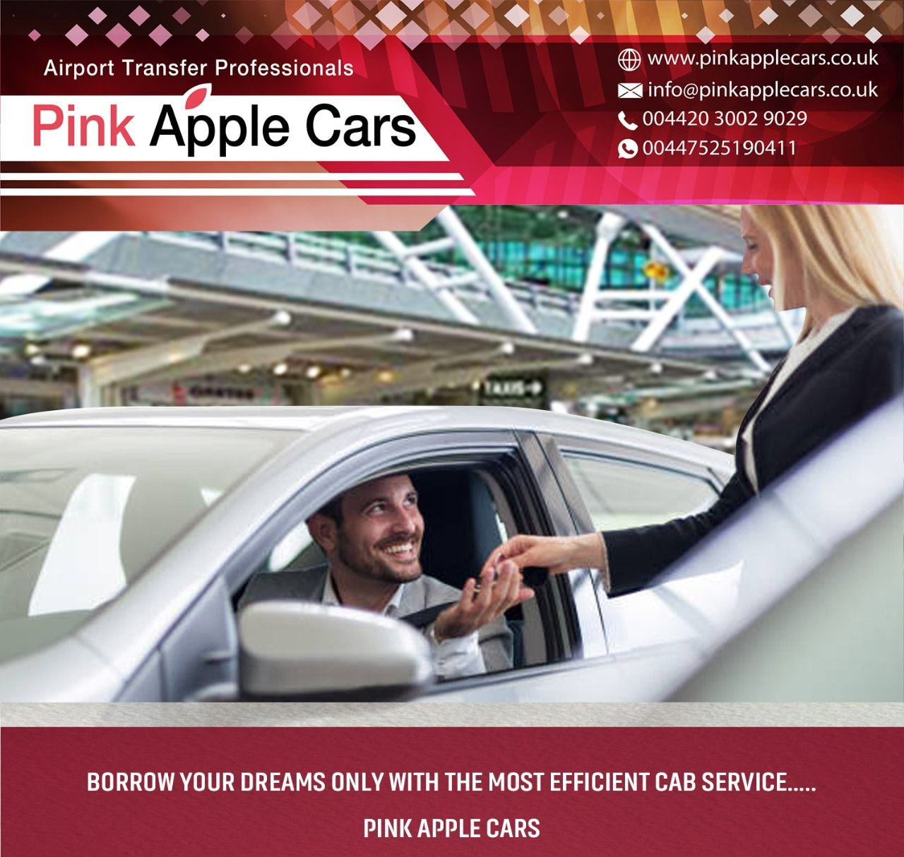 Pin by Pink Apple Cars on London Airport taxi service in