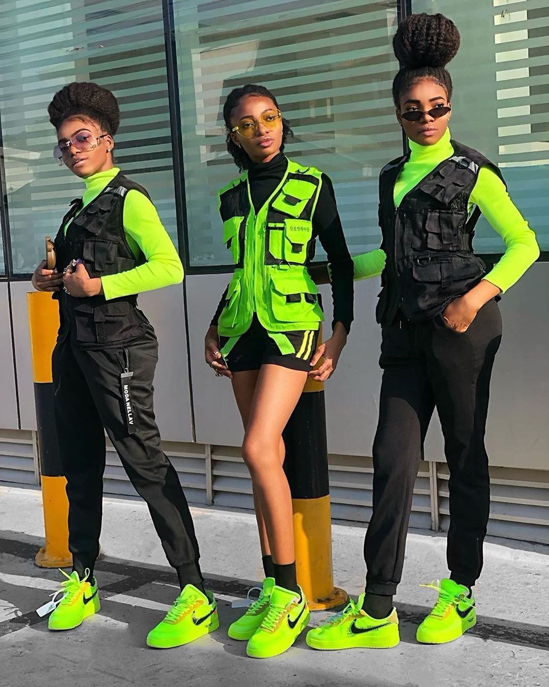 Behind The Scenes By Cvshed In 2020 Streetwear Fashion Women Neon Outfits Neon Green Outfits