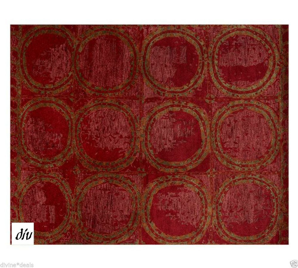 5 X 8 Pottery Barn Hearst Tufted Wool Rug With Tags Red New Make Me An Offer Potterybarn Antiquelookstyle Pottery Barn Rugs Wool Area Rugs Red Wool Rug #pottery #barn #living #room #rugs