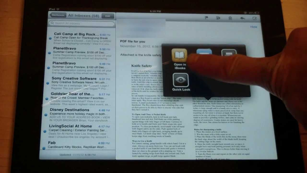 How To Save PDF Files To An iPad