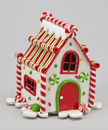 Take a look at this White LED Gingerbread House by Dennis East International on #zulily today!