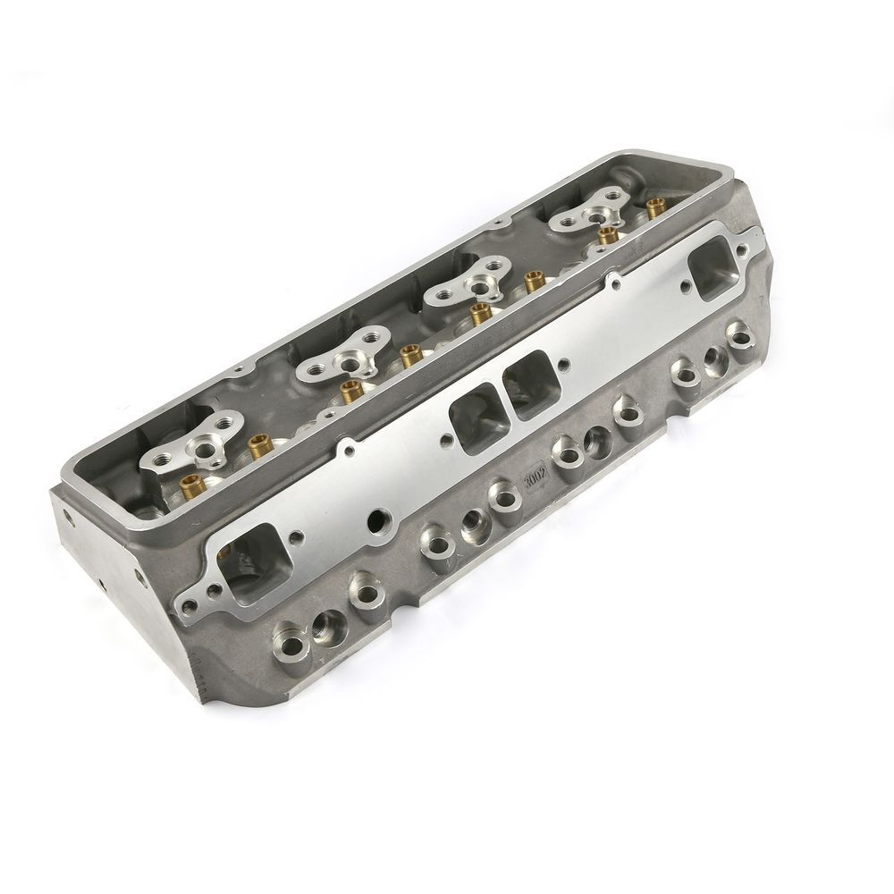 Chevy SBC 350 217cc 74cc Angle Plug Full CNC Bare Aluminum