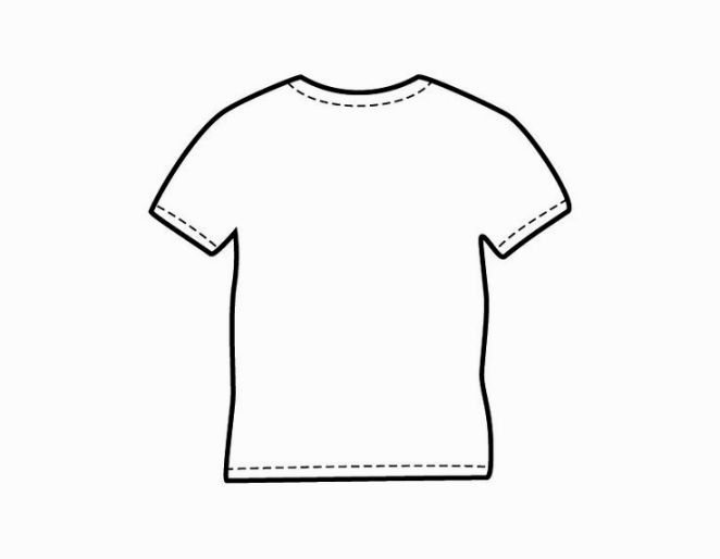Coloring Shirt Shirt Template Blank T Shirts Coloring Pages