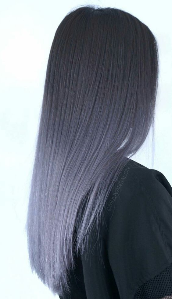 Graues Ombre-Haar – # Check more at s2.diydecors.onli …