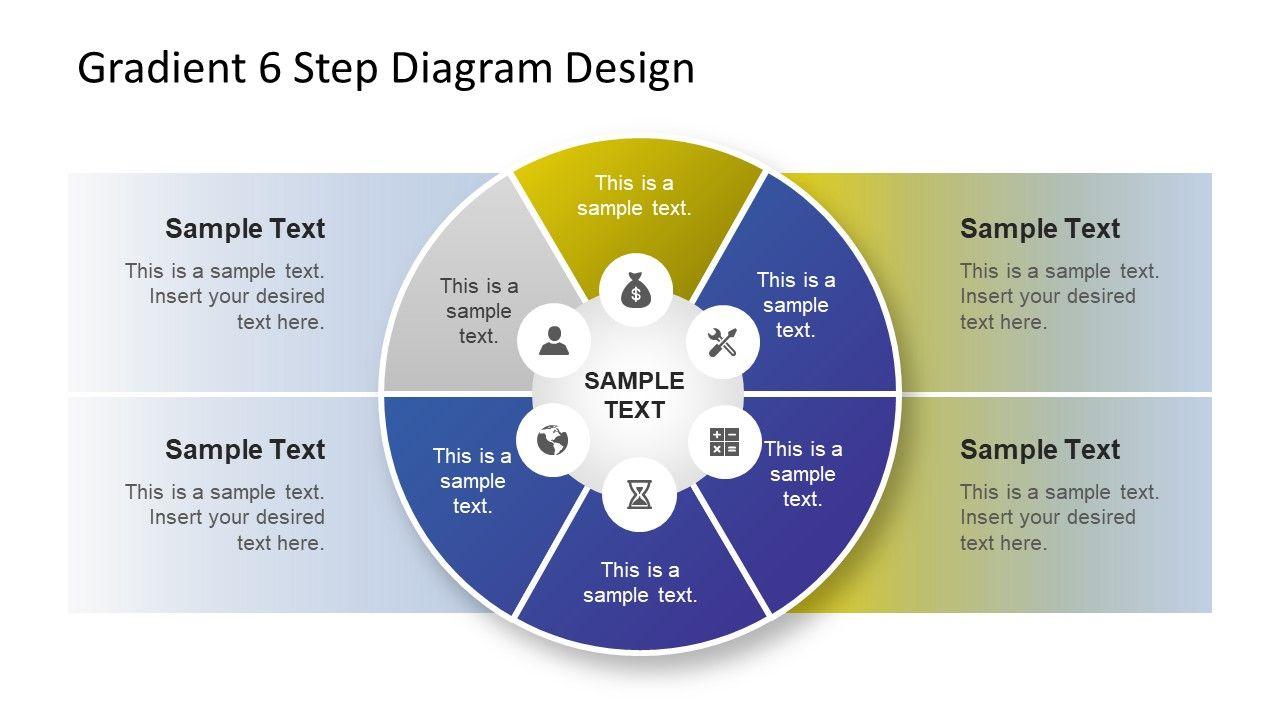 Gradient 6 Step Diagram Design Slidemodel Diagram Design Infographic Powerpoint Powerpoint Slide Designs