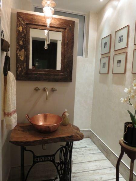 Lavabo de inspiração afetiva Banheiros Pinterest Lavabo - lavabos rusticos