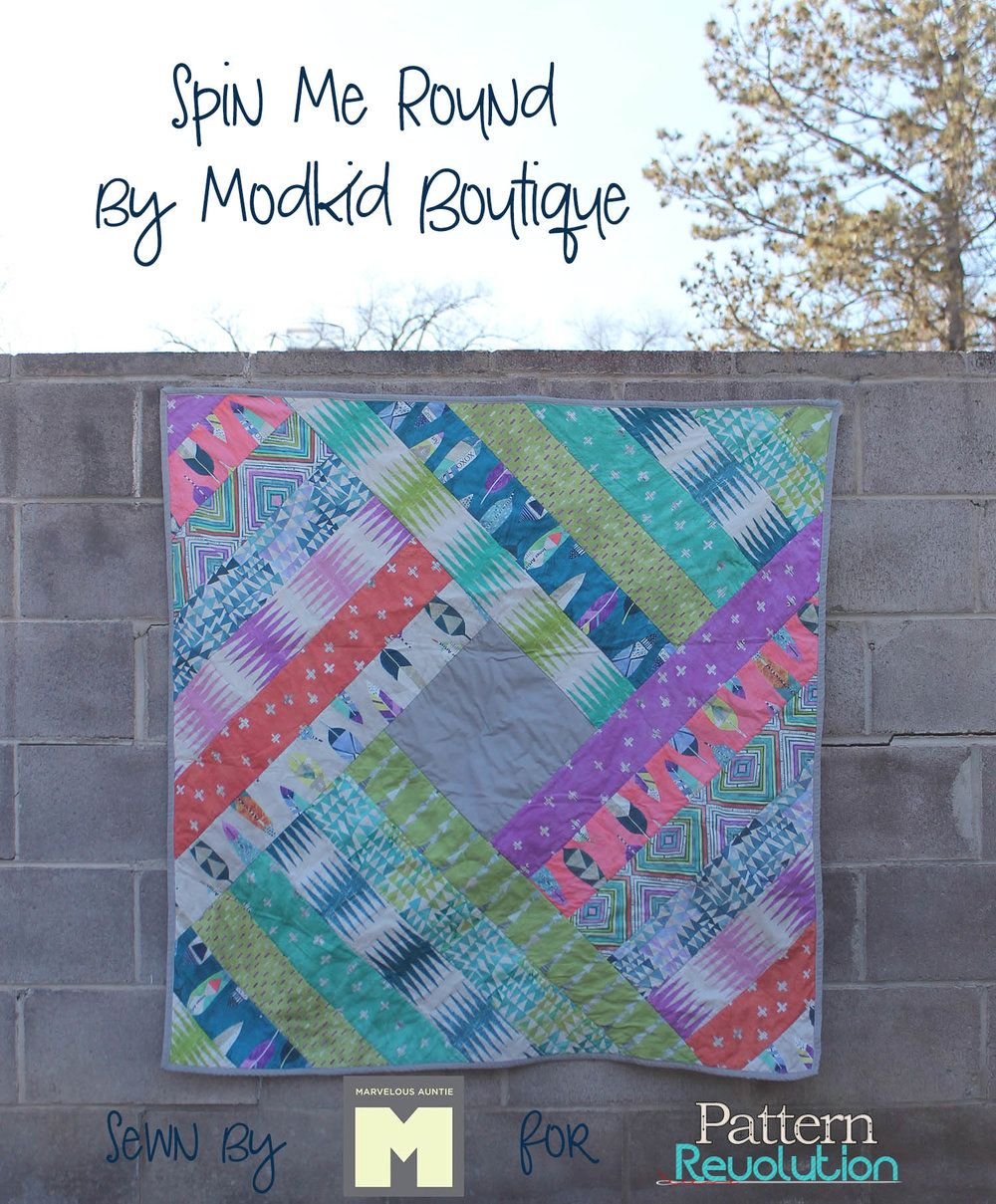 Sew Yourself Some Love Spin Me Round Quilt by Modkid