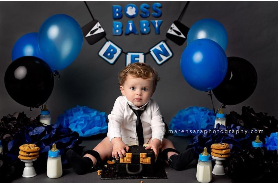 Boss Baby Smash Cake #oneyear #cookiesareforclosers # ...