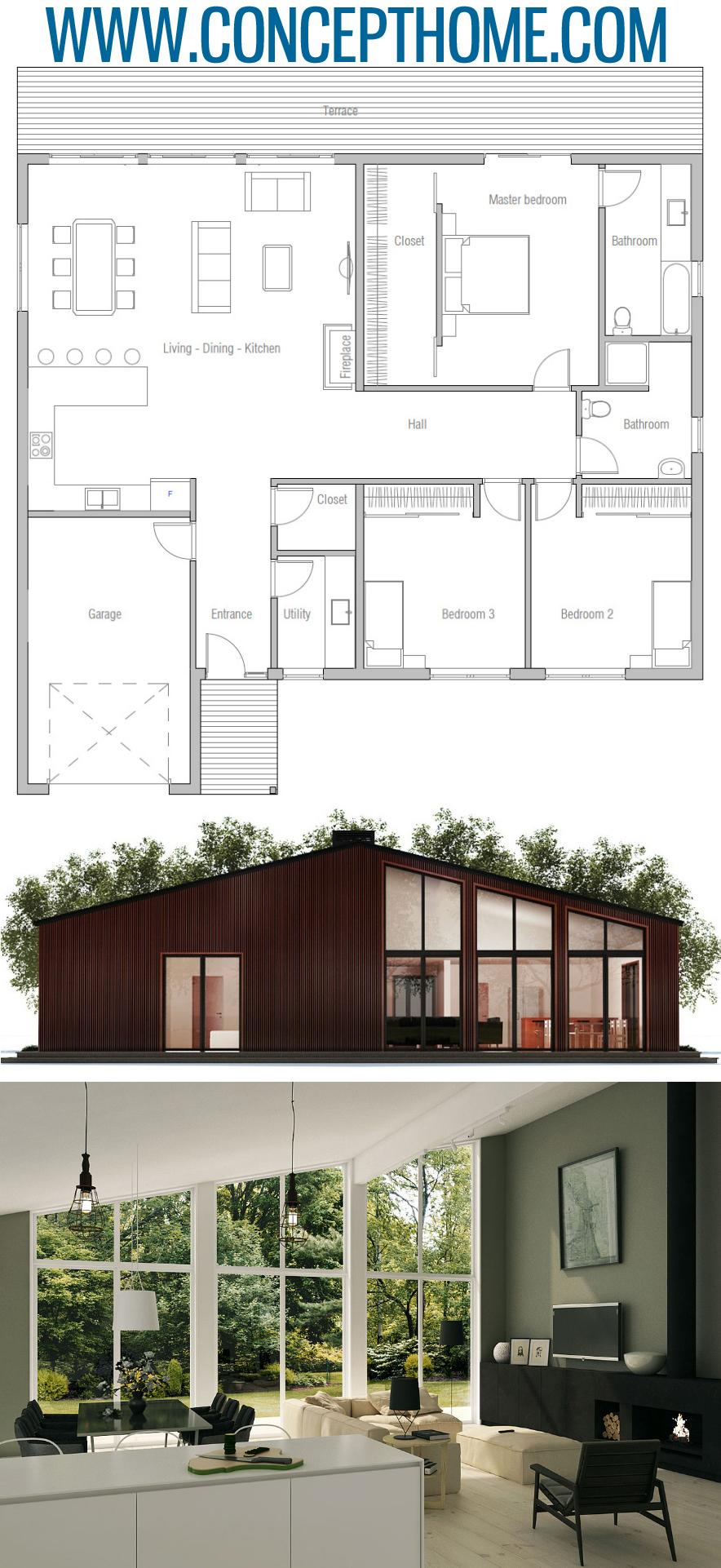 Plan De Maison Ch371 Small House Plans House Plans Dream House Plans