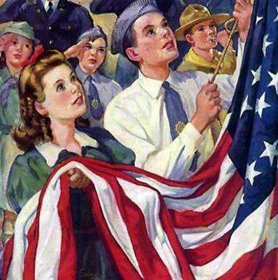 Slantright New Pledge Of Allegiance Norman Rockwell Paintings Rockwell Paintings Norman Rockwell Art