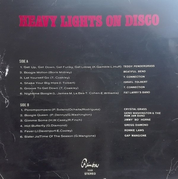 Panoramic Stereo Heavy Lights On Disco Vinyl Lp 1978 Disco Heavy And Light Disco Music
