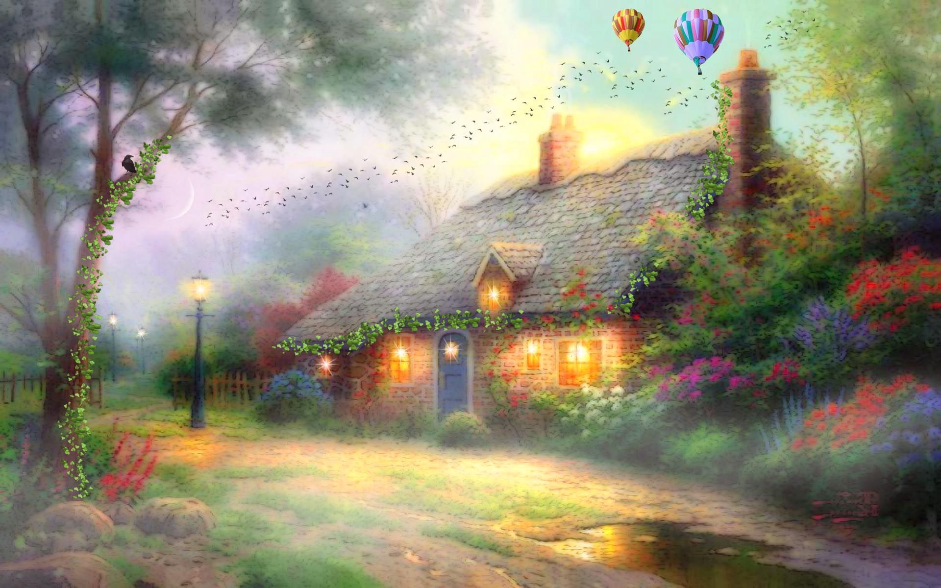 Fantasy villages desktop wallpapers photos - Art village wallpaper ...
