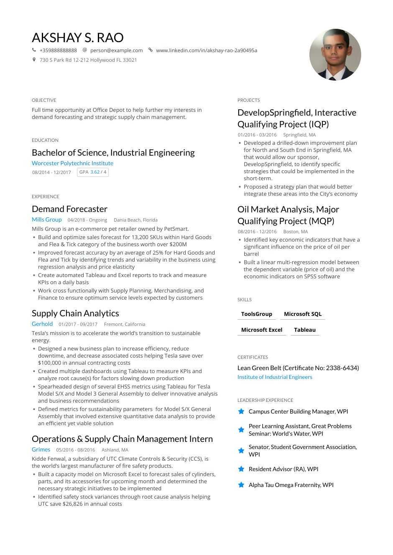 resume engineering trends 2020