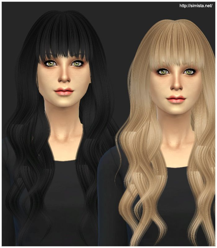 Terrific Simistas Retexture Edit Ela Sims Hairstyle 20 Retextured Long Hairstyle Inspiration Daily Dogsangcom