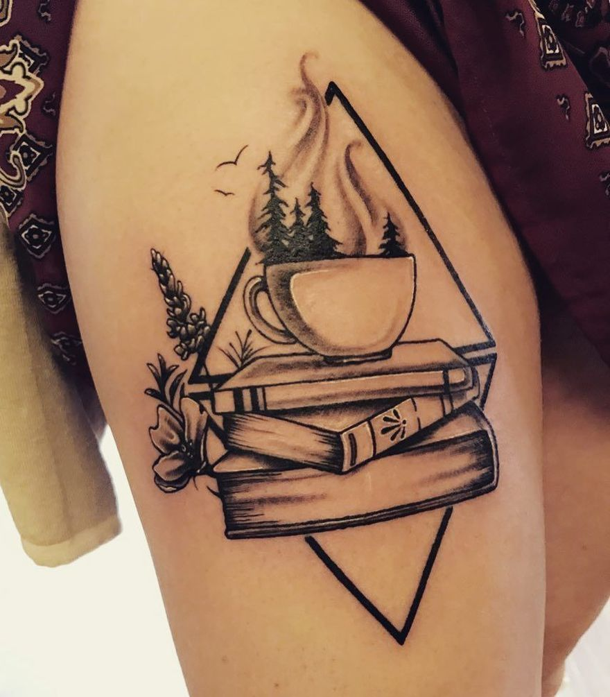 8 Of The Most Inspiring Tattoos For Moms: Awe-inspiring Book Tattoos For Literature Lovers