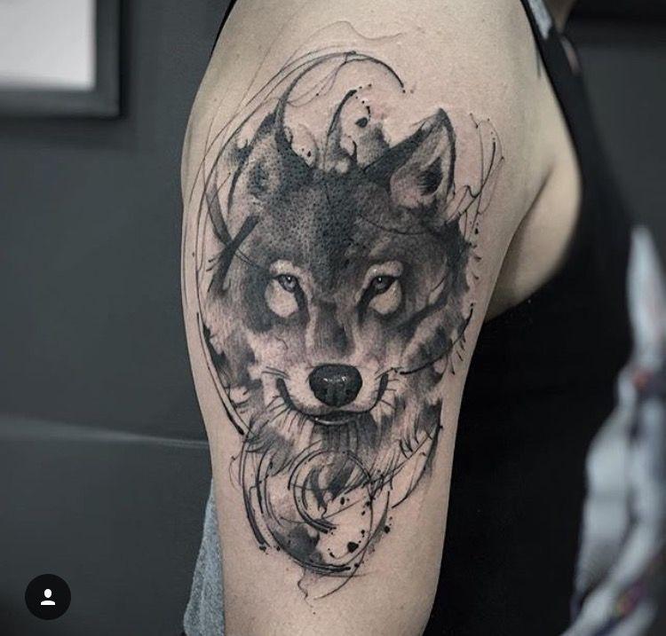 14 Tatuajes de lobos en el hombro