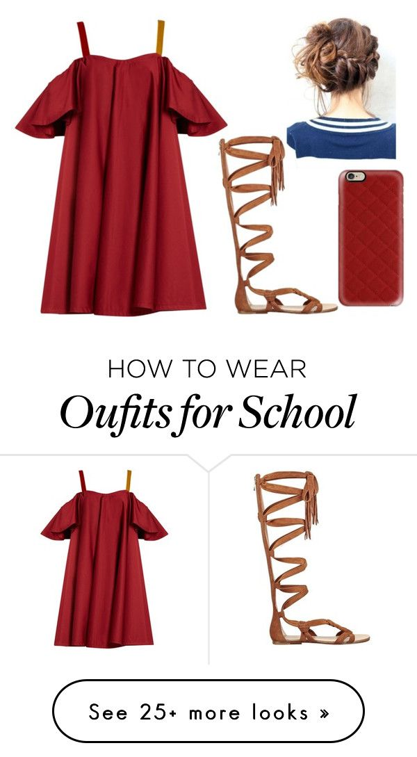 First school dance Friday by gretchenlover on Polyvore featuring Anna October, Sigerson Morrison and Casetify #schooldancedresses
