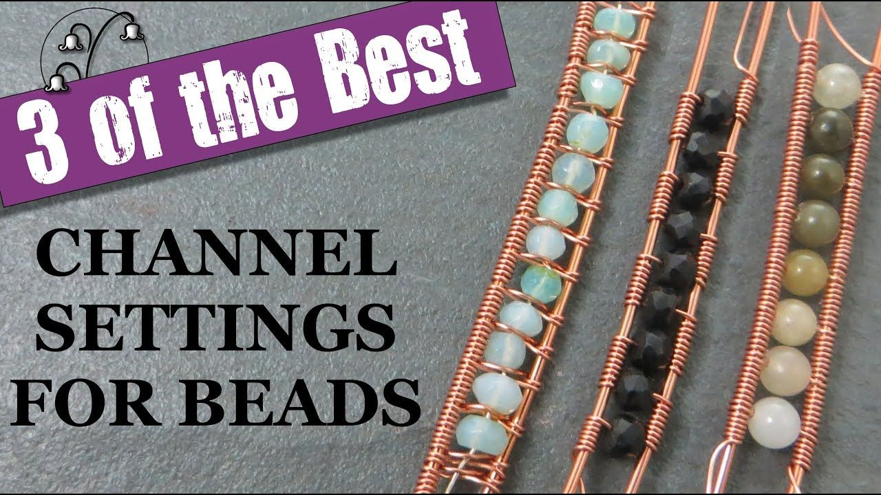 Channel Setting Wire Wrap Tutorial   Wire Jewelry Tutorials   Pinterest