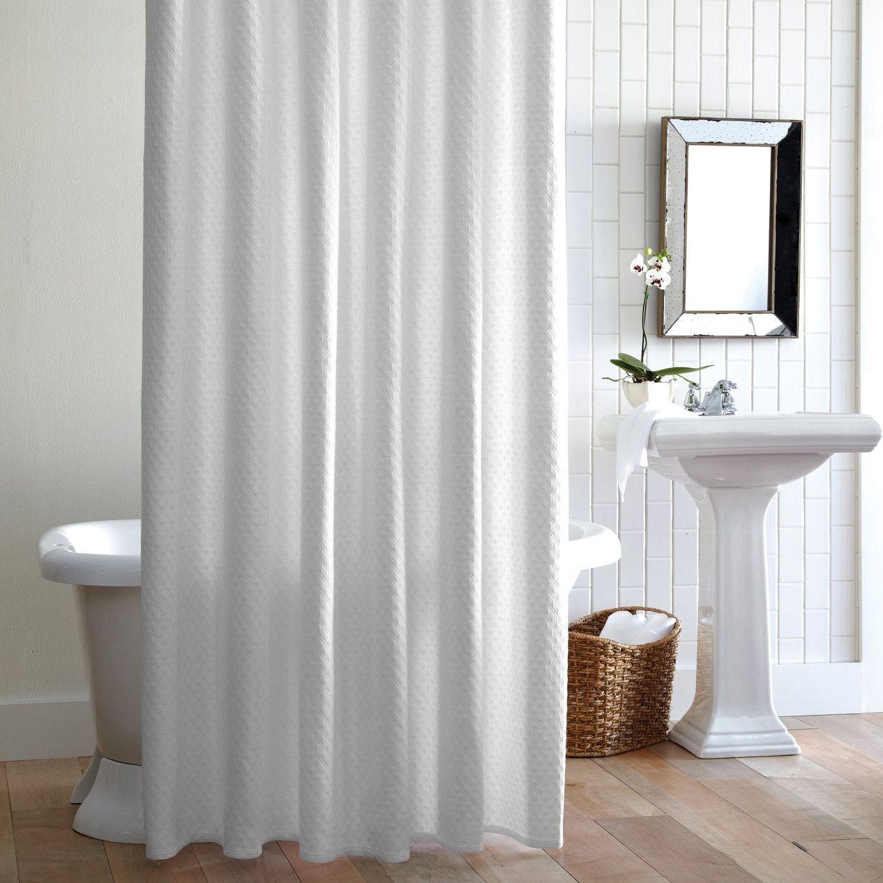Jubilee Robe Cotton Shower Curtain Shower Curtain White Shower