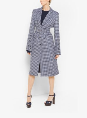 MICHAEL KORS COLLECTION Gingham Wool-Jacquard Coat