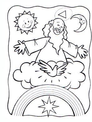 Resultado De Imagen Para Dibujo De Dios Creador Del Cielo Y La