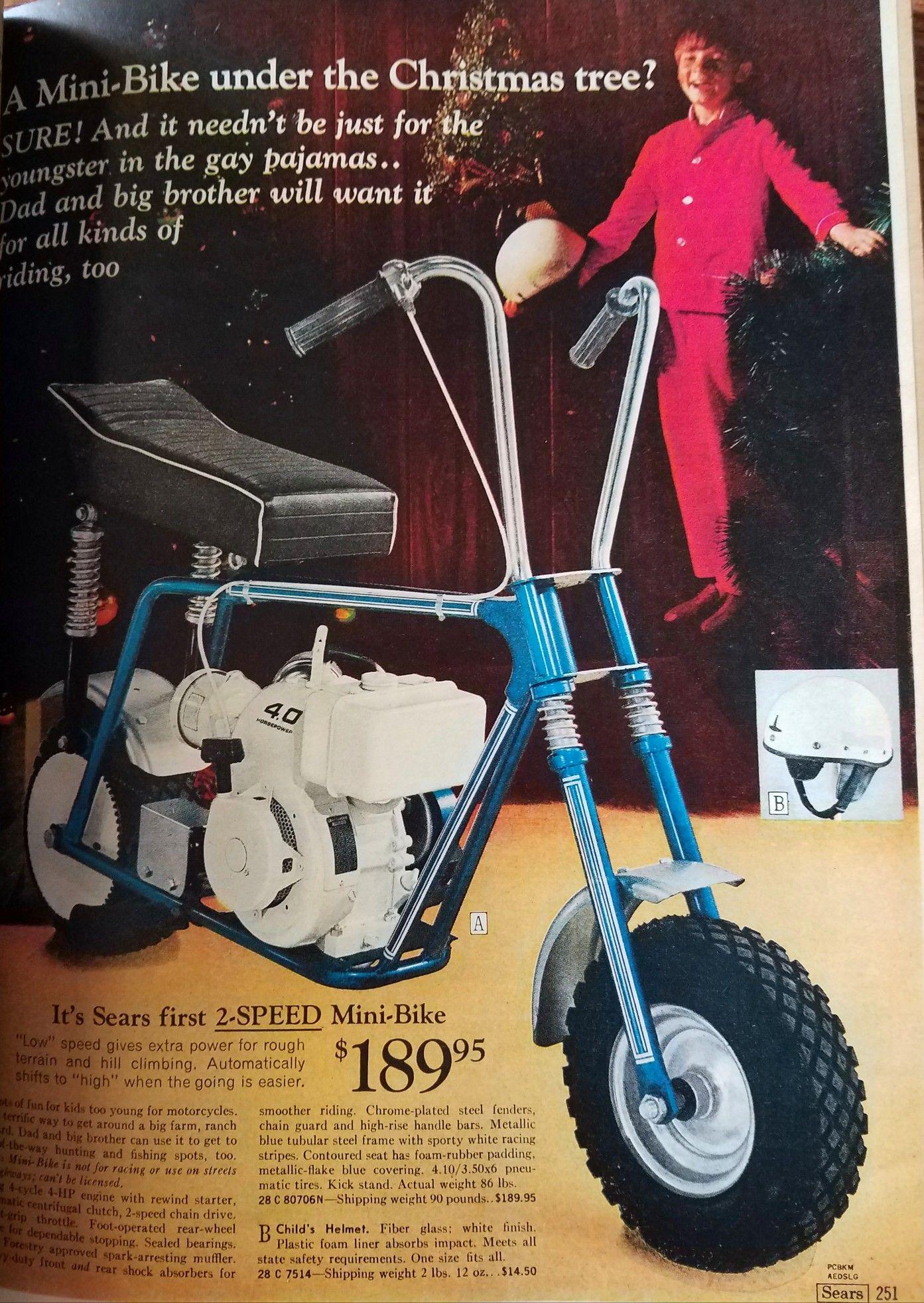 1972 ADVERT Golden Pinto Mini Bike 3.5 HP 4 Cycle Gas Gasoline Engine 23 MPG