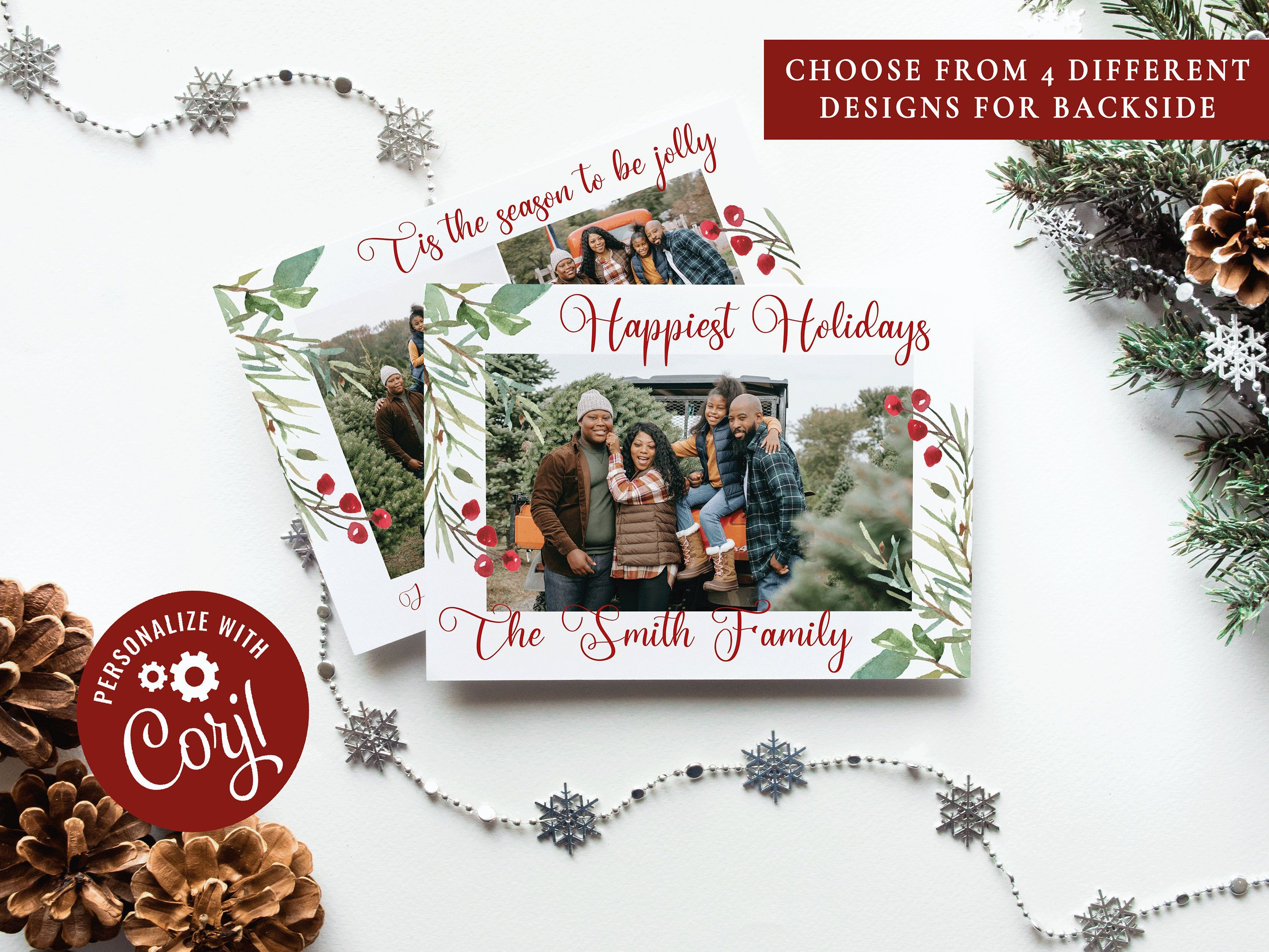 Christmas Card Template Christmas Photo Cards Photo Etsy In 2021 Christmas Card Template Holiday Card Template Christmas Photo Cards