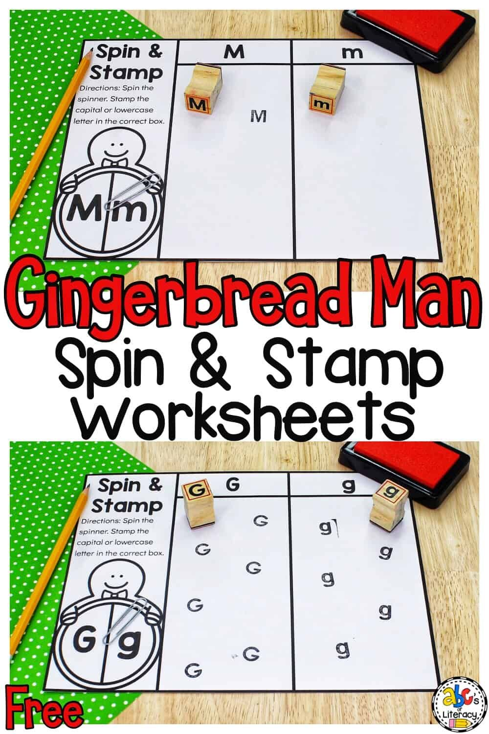 Gingerbread Man Spin Stamp Letters Activity For Preschoolers Gingerbread Man Stamped Lettering Letter Activities [ 1500 x 1000 Pixel ]