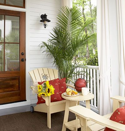 Sugarberry Cottage  Back Door Entry A Covered Porch Provides Convenient  Access To The Garden And
