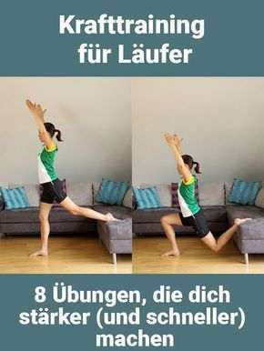 [   Strength training for runners! Here are 8 exercises that will make you stronger and thus faster....