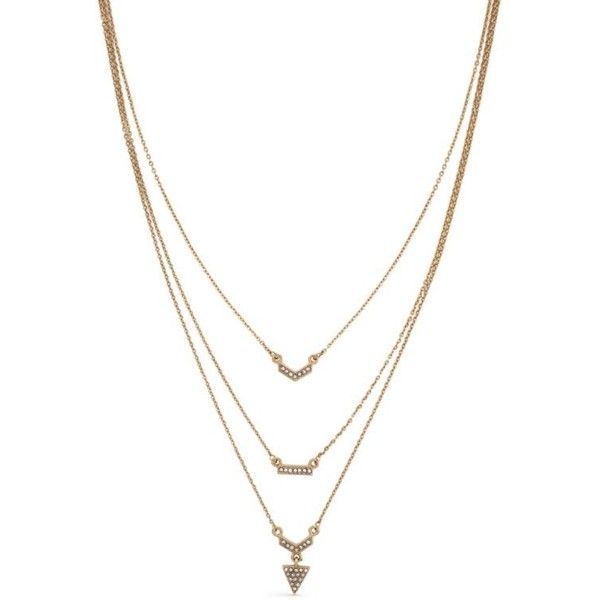 Jessica simpson gold gold tone crystal arrow head layered necklace featuring jewelry necklaces accessories gold crystal necklace gold necklace yellow gold necklace pendant necklaces and crystal pendant necklace aloadofball Image collections