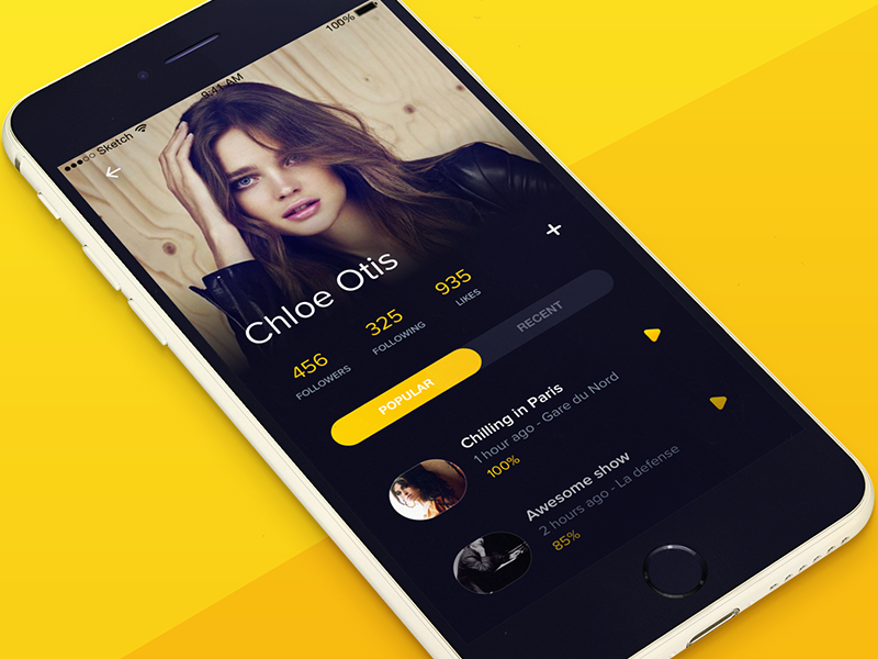 Profile Page Inspiration | Mobile UI | Mobile ui design, Mobile