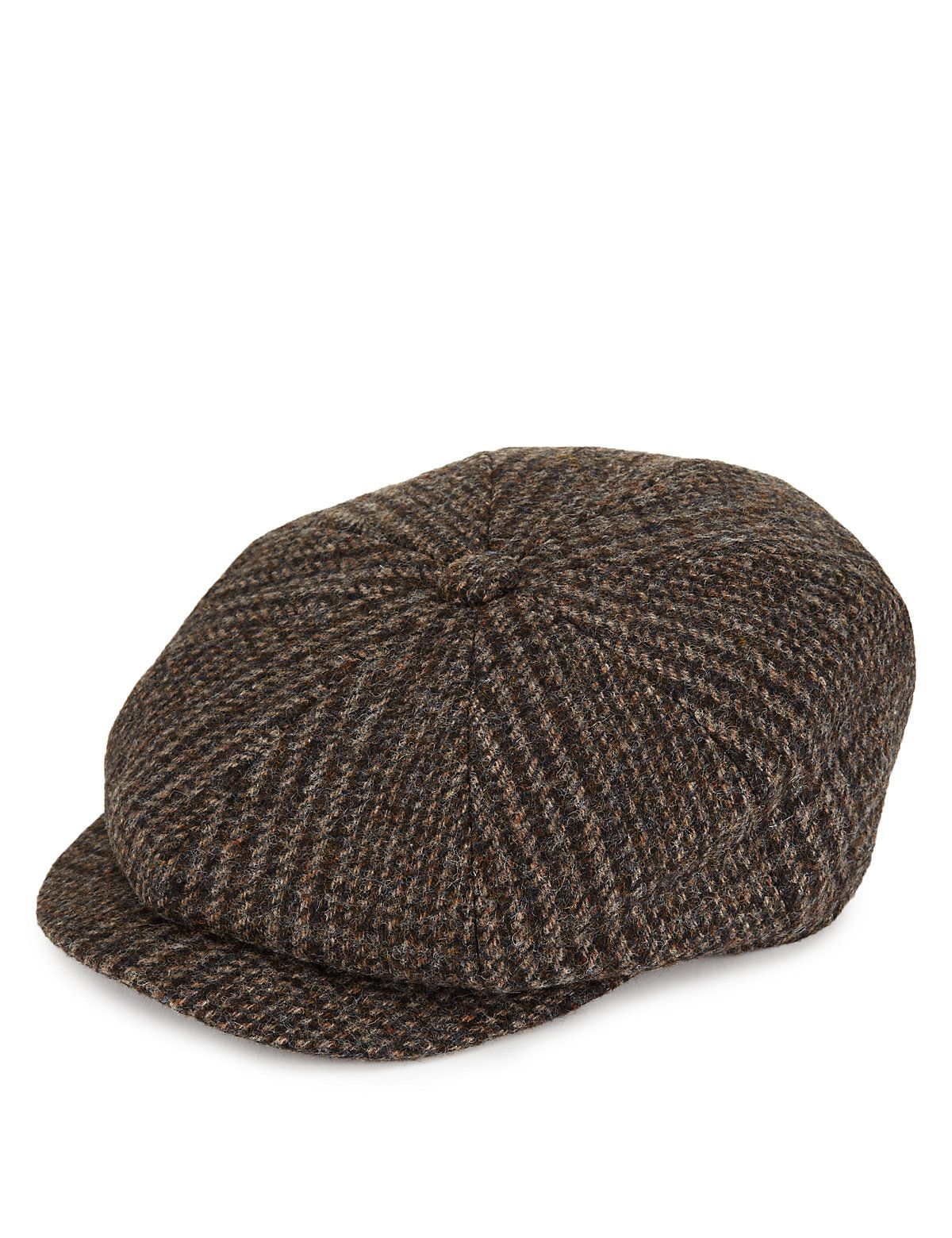 ee676d79462b0 Pure Wool Baker Boy Checked Flat Cap with Thinsulate™   Stormwear ...